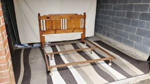 QUEEN OR FULL SIZE bed frame. DELIVERY AVAILABLE for Sale in Hopedale, MA