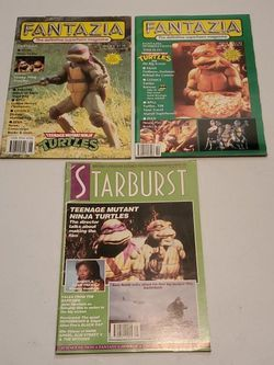 Teenage Mutant Ninja Turtles Movie Magazine Lot, Fantazia #1 With Pullout Poster, #6, And Starburst #148, Featuring TMNT Movie 1, 2, Batman Reviews for Sale in Fresno,  CA