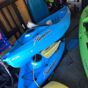 (2) Sundolphin Kayaks W Paddles for Sale in Tampa, FL