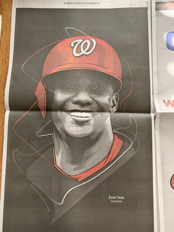 Washington Nationals Championship News Paper (The Washington Post)