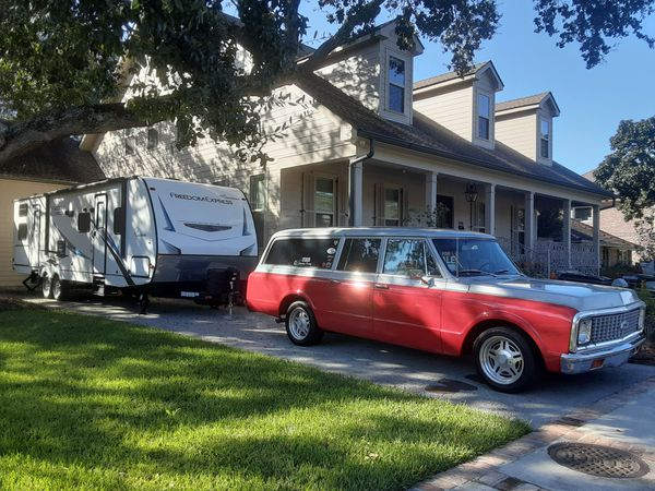 72 Chevy Surburban, New Coachman Camper, Honda Goldwing w/ Trailer, & Porter Cable 6500 watt Generator MUST SEE MUST SELL!!!