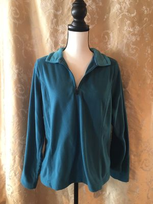 Lands End Blue Sweater with Zip Up Collar for Sale in Cumberland, VA
