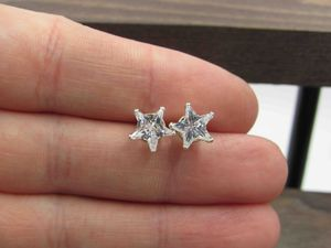 Sterling Silver Unique Star CZ Diamond Stud Earrings Vintage Wedding Engagement Anniversary Beautiful Everyday Minimalist Cute Sexy for Sale in Lynnwood, WA