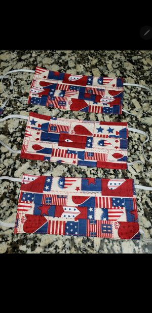 U.S.A. themed and $5 each or TODAY ONLY 5 for $20 ,machine washable masks great quality face masks reusable masks for Sale in Henderson, NV
