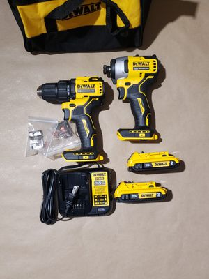 Dewalt 20v ATOMIC 1/2 in Drill Driver Impact Driver Kit for Sale in Greenville, SC