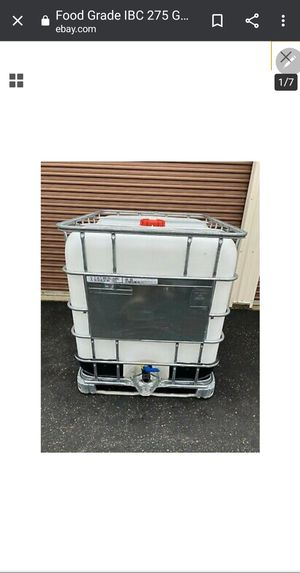 275 gallon container water reserve tote irrigation storage for Sale in Stockton, CA