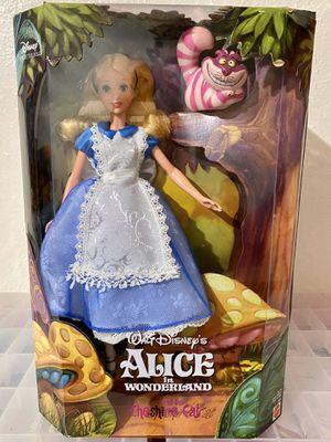 Alice in Wonderland Doll & the Cheshire Cat Disney Collector Doll Brand New Never Opened Rare Collectible for Sale in Phoenix, AZ