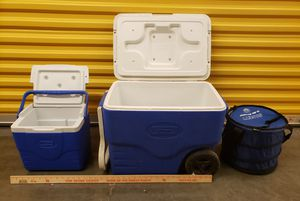 Negotiable -. 3 Coolers and cold packs for Sale in Richmond, VA