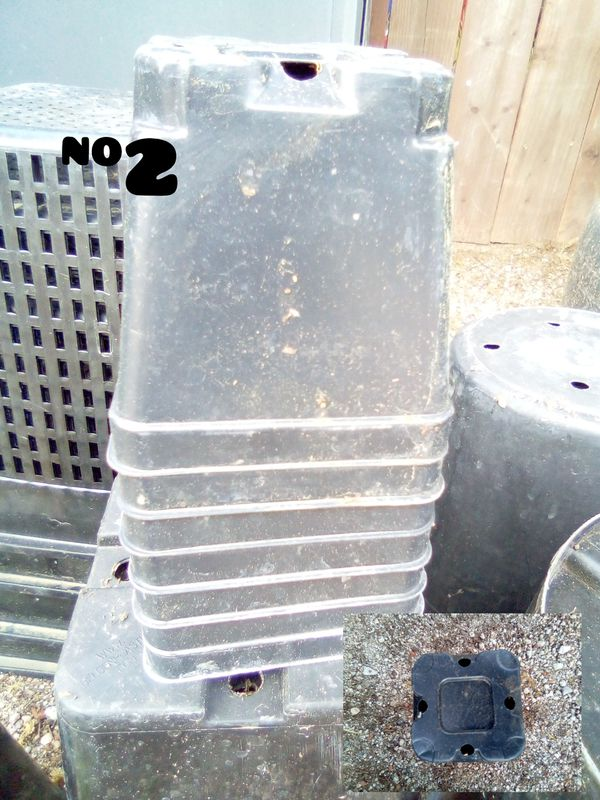 Square pots for gardening hydroponics buckets fruits vegetables