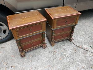 Set of 2 Solid Wood Vintage DIY Side Tables for Sale in Orlando, FL