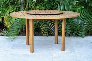 """Patio furniture solid eucalyptus wood round 57"""" New for Sale in Hialeah, FL"""