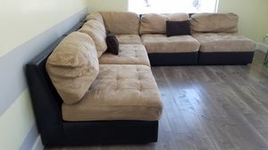 Corner couch microfiber sectional for Sale in Pasadena, CA