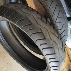 Set Of Motorcycle Tires. IRC Road Winner 110/70/17 - Bridgestone 130/70/17 for Sale in San Jose, CA