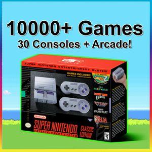 SNES Classic Modded 10000+ Games 30 Systems Super Nintendo Classic Edition Mini Retro Gaming System (PS1, N64, Arcade, Sega, NES, Mario) for Sale in Garden City, NY