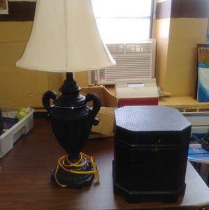 Black Lamp and Storage Holder for Sale in Norfolk, VA