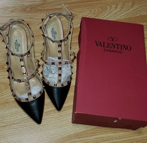 Genuine leather studded heels shoes sz. 8 for Sale in Methuen, MA