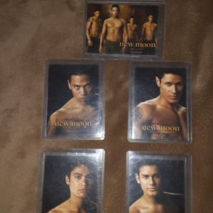 2009 Summit Entertainment The Twilight Saga New Moon Wolfpack Complete Set of 5 Trading Cards for Sale in Los Lunas, NM