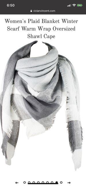 Women's Blanket Scarf Warm Wrap Oversized Shawl Cape (Light Gray) for Sale in North Las Vegas, NV