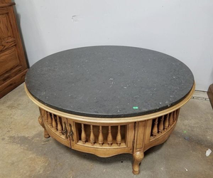 Stone Topped Coffee Table with Storage - Delivery Available for Sale in Tacoma, WA