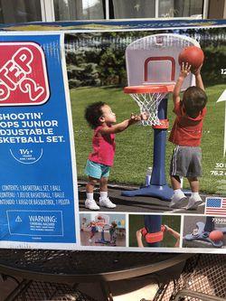 2 step shootin hoop Junior adjustable basketball set new for Sale in Bradbury,  CA