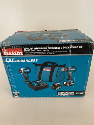Makita 18-Volt LXT Lithium-ion Brushless Cordless 2-Piece Combo Kit 3.0Ah Driver-Drill/ Impact Driver for Sale in Fort Lauderdale, FL