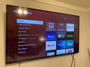 "TCL - 55"" Class - LED - 4 Series - 2160p - Smart - 4K UHD TV with HDR - Roku TV for Sale in Miami, FL"