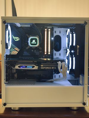 Custom Corsair Gaming Computer with Intel 9700k 5.0 Ghz, 2070 RTX, 256GB NvME/2TB HDD!! for Sale in Lauderhill, FL