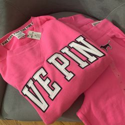PINK Sweatshirt and Jogger for Sale in Fort Washington,  MD
