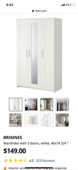 3 door wardrobe with mirror for Sale in Riverside, CA