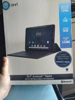 "Onn. 10.1"" Android tablet with detachable keyboard for Sale in Wayland, MI"