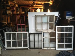 Antique pane glass windows: unique and rare sizes for Sale in Portland, OR