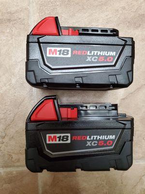 Milwaukee m18 batteries for Sale in Renton, WA