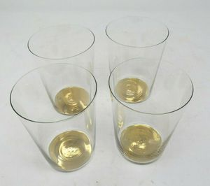 Hotel Collection Gold Tone High Ball Drinking Glasses (Set of 4) AP20 for Sale in Fresno, CA