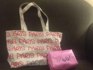 Paris Tote + makeup bag for Sale in Vancouver, WA
