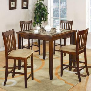 5pc Counter High Dining Table @Elegant Furniture for Sale in Fresno, CA