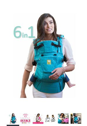 NIB Lillebaby 6-in-1 embossed teal baby and child carrier for Sale in Oakton, VA