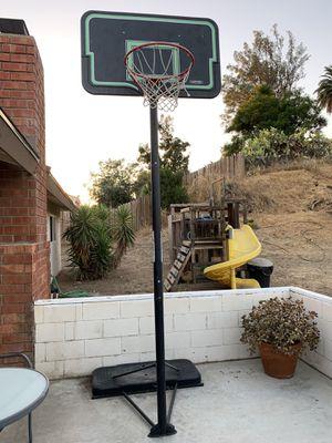 LIFETIME ADJUSTABLE PORTABLE BASKETBALL HOOP (44-INCH IMPACT) - $30 for Sale in Escondido, CA