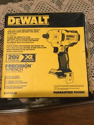DeWalt impact wrench XR 20v 1/2 tool only no battery no charger $185 for Sale in San Diego, CA