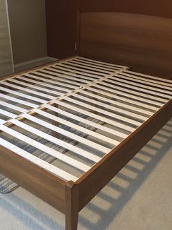 Solid Queen Modernist Wood Bed Frame for Sale in Hillsboro,  OR