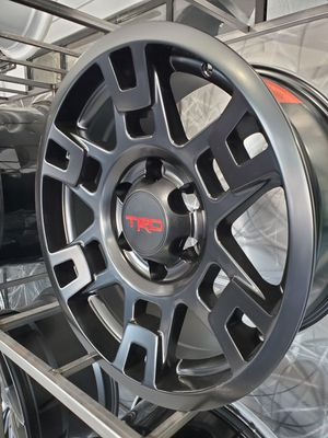17x8 6x139 6-139 et5 satin black TRD wheels fits Tacoma 4 runner DJ sequoia rim wheel tire shop for Sale in Tempe, AZ
