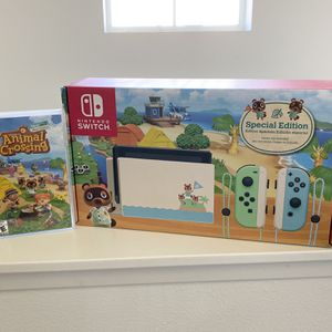 Nintendo Switch Special Edition Console + Animal Crossing New Horizons Game for Sale in Claremont, CA