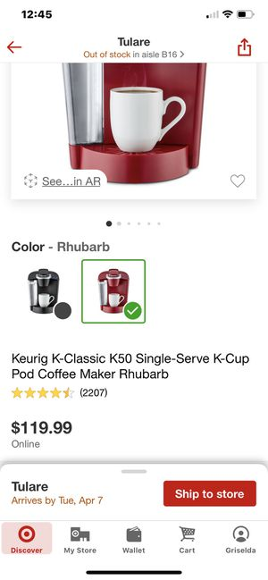 Keriug Coffee maker for Sale in Tulare, CA