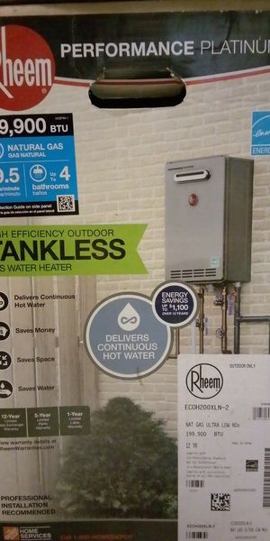 Rheem Performance Platinum High Efficiency Outdoor Tankless Gas Water Heater for Sale in Turlock, CA