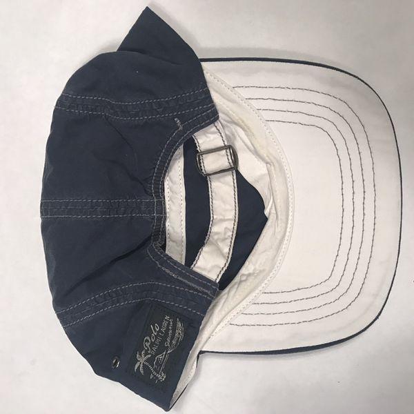 67ad1b715ded2 Vintage 90s Polo Ralph Lauren 5 Panel SnapBack Strapback Hat Sport ...