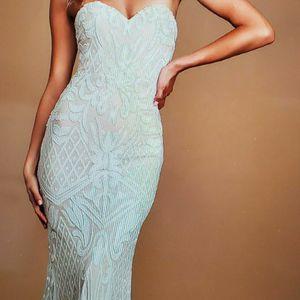 Olivia White Sequin Strapless Maxi Wedding/Prome/Formal Dress for Sale in Mesa, AZ