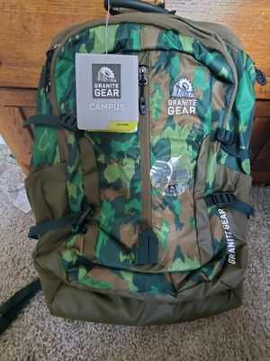 Brand new Granite Gear Campus Collection camo backpack for Sale in Bloomingdale, IL
