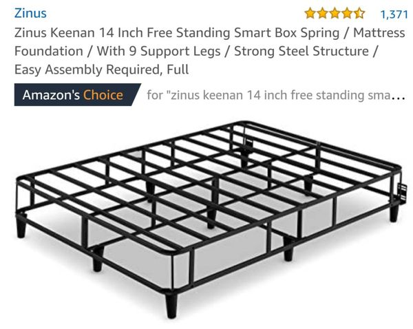 Zinus Keenan 14in Free Standing Smart Box Spring W/Support Legs Full Size