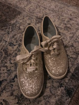 Kate Spade glitter keds - perfect wedding reception shoe! for Sale in Houston, TX