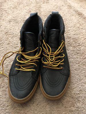Black leather Vans for Sale in Selma, CA
