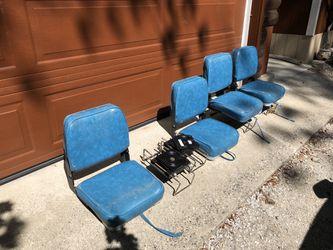 (4) Folding Boat Seats w/ clamp and swivel for Sale in Leavenworth,  WA